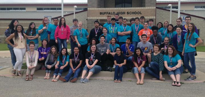 The+UIL+academic+students+show+off+their+medals+from+district+competition.+OAP+and+CX+points+are+included+in+the+district+totals.+