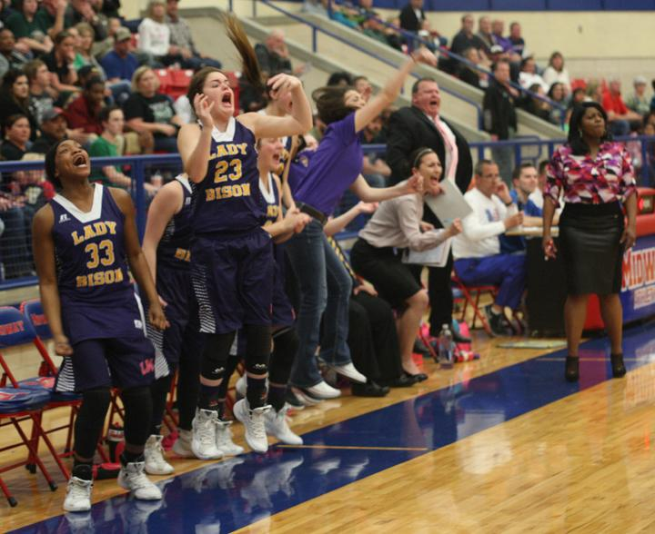 Scenes from the Lady Bison Regional Semi-final game