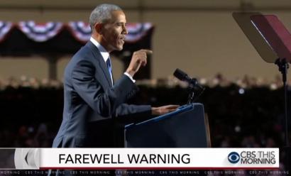 Obama warns Americans in Farewell Address