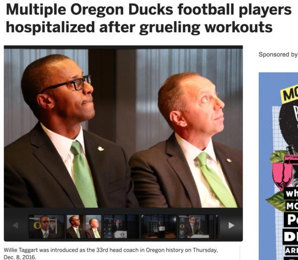 Oregon coach hospitalizes three athletes
