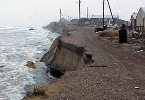 Shishmaref, Alaska, is falling into the sea
