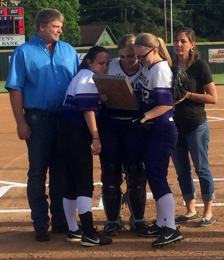 Softball senior night honors players