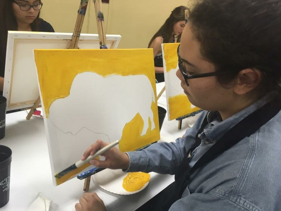 UIL+students+create+individual+Bison+paintings