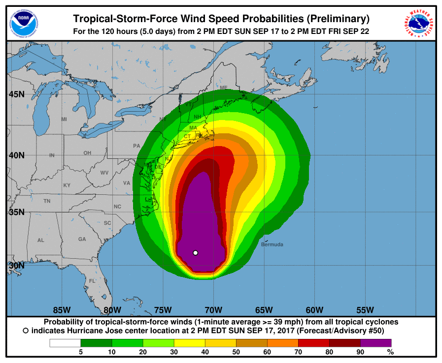 Hurricane+Jose+may+be+the+third+to+touch+U.S.+mainland