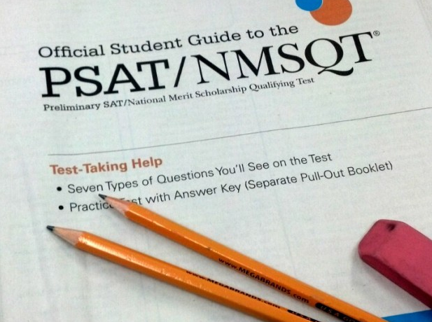 Students tackle PSAT