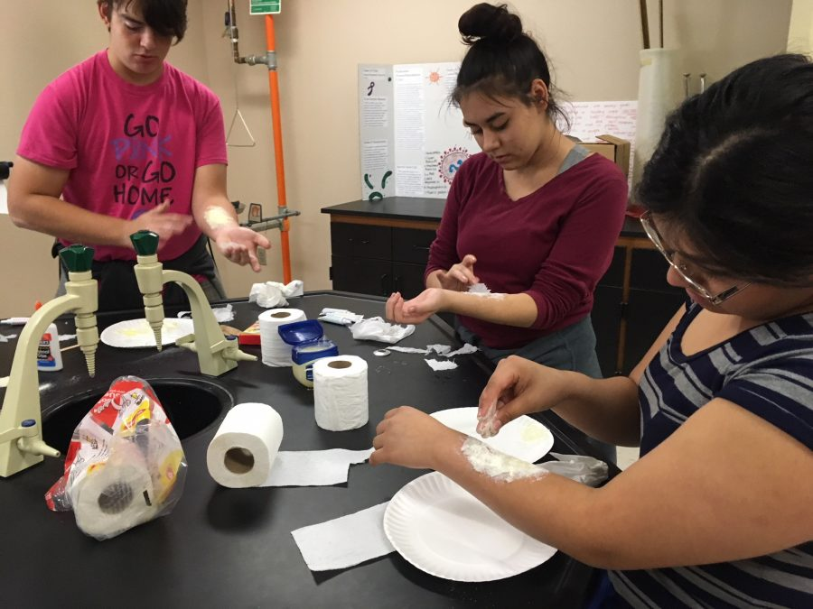 Students create fake wounds