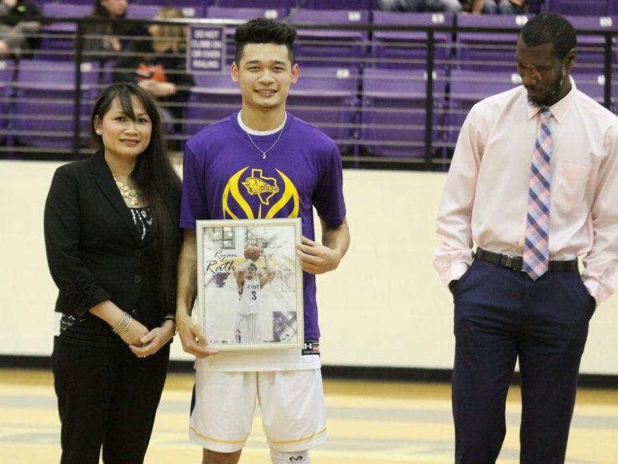 Basketball team honors seniors