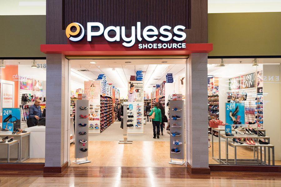 TORONTO, ONTARIO, CANADA - 2016/02/28: Front entrance of Payless shoe store. Payless ShoeSource is an American discount footwear retailer headquartered in Topeka, Kansas. (Photo by Roberto Machado Noa/LightRocket via Getty Images)