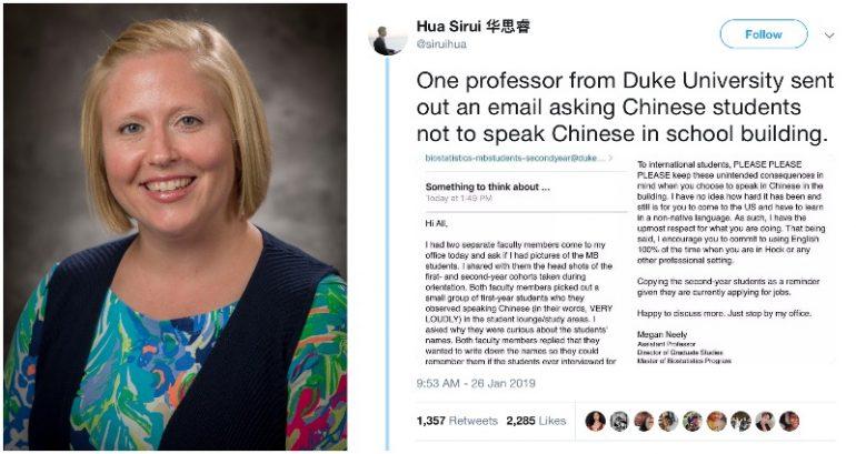 Professor receives backlash