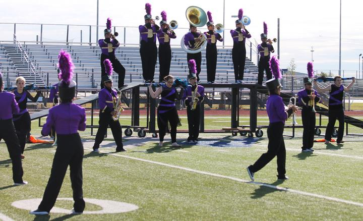 Band competes at invitational contest to prep for regionals