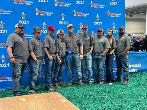 The Ag Mech team made it to the backdrop, one of their major goals with their trailer builds this year. They will compete next at the Leon County Livestock Show next month.