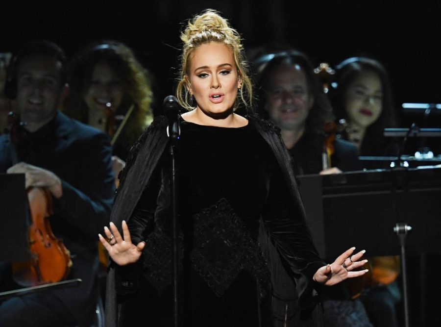 Adele Honors Beyonce at Grammy award show