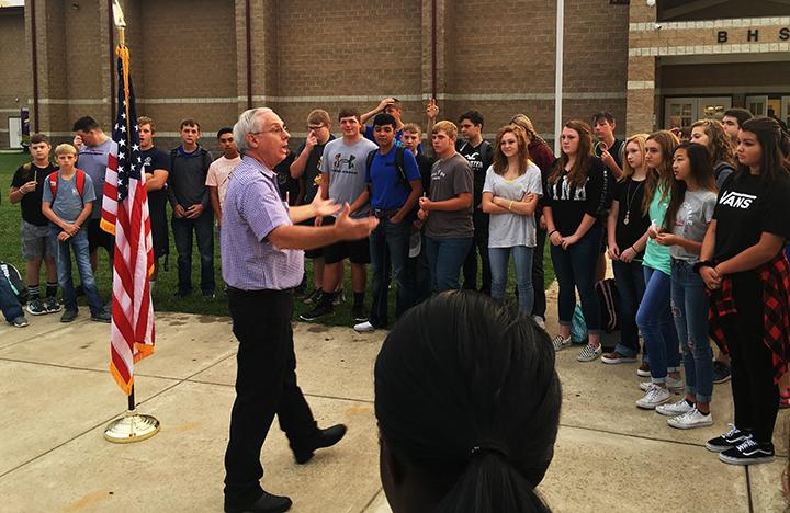 Students gather at See You At The Pole