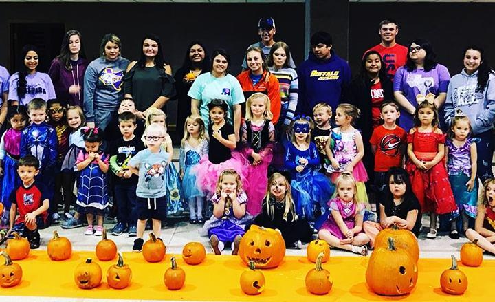 FCCLA carves pumpkins