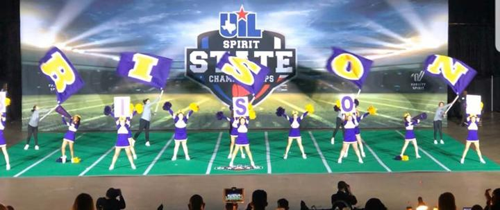 Cheer team competes at State Spirit Contest