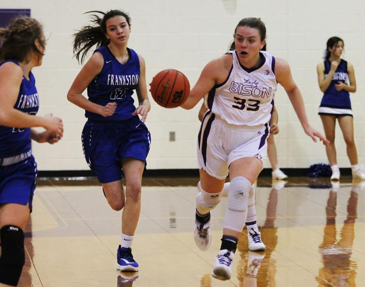 Lady Bison fall in Area game