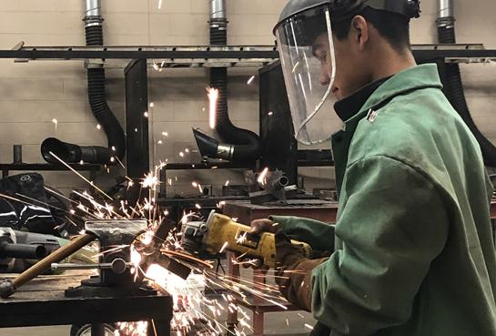 Welding students complete projects