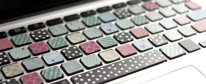 DIY: Washi Tape Keyboard