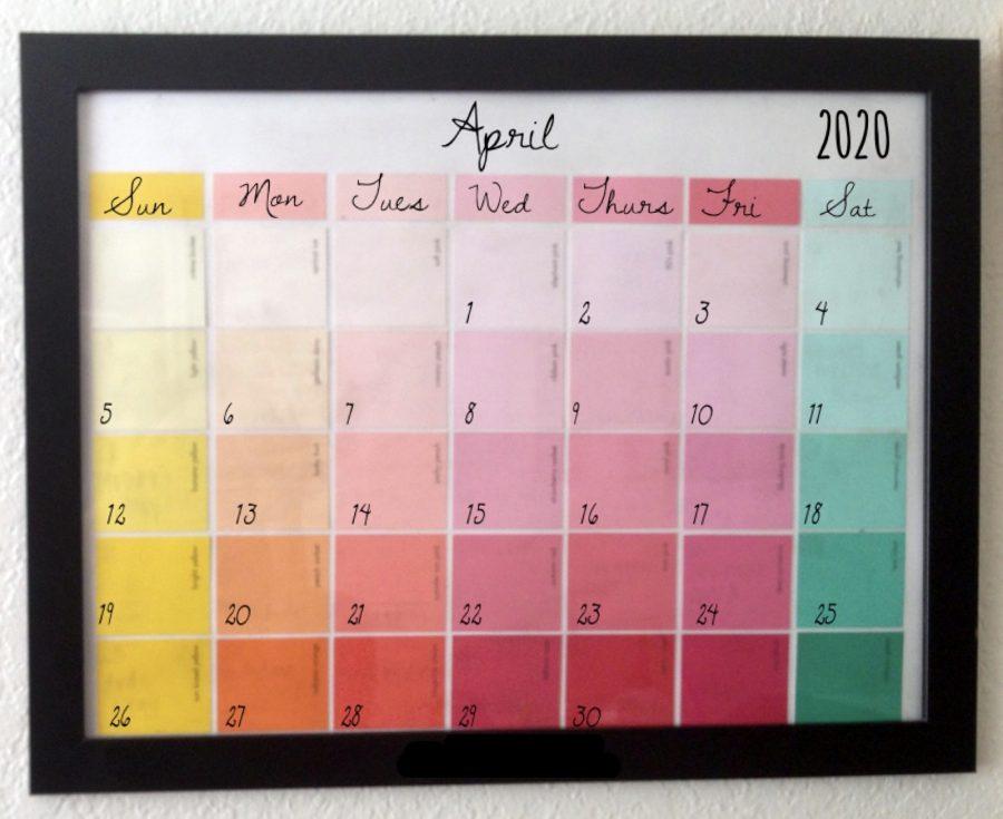 DIY: Paint Chip Calendar