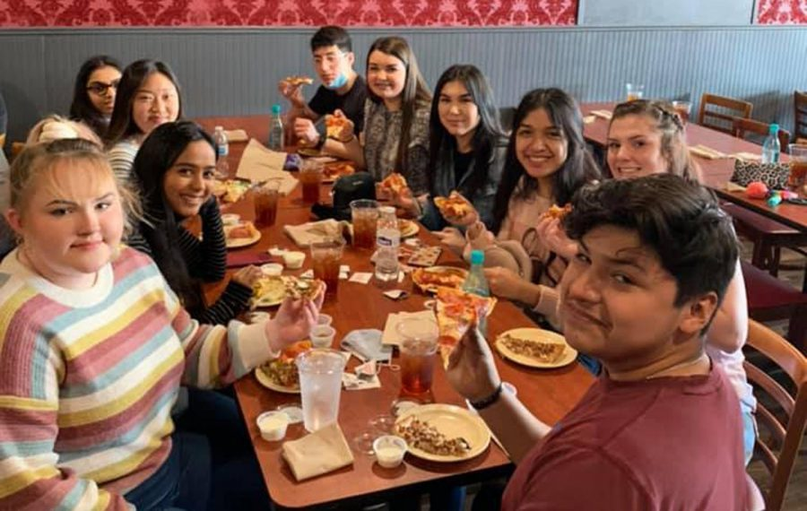 The junior class enjoyed a trip to Waco for pizza and video games after winning the spirit competition in the fall. Plans to also see a movie were cancelled because COVID levels are still high.