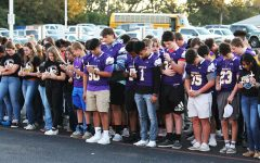 Students and staff gathered Wednesday to honor biology teacher Lori Brigner, who passed away while battling COVID.